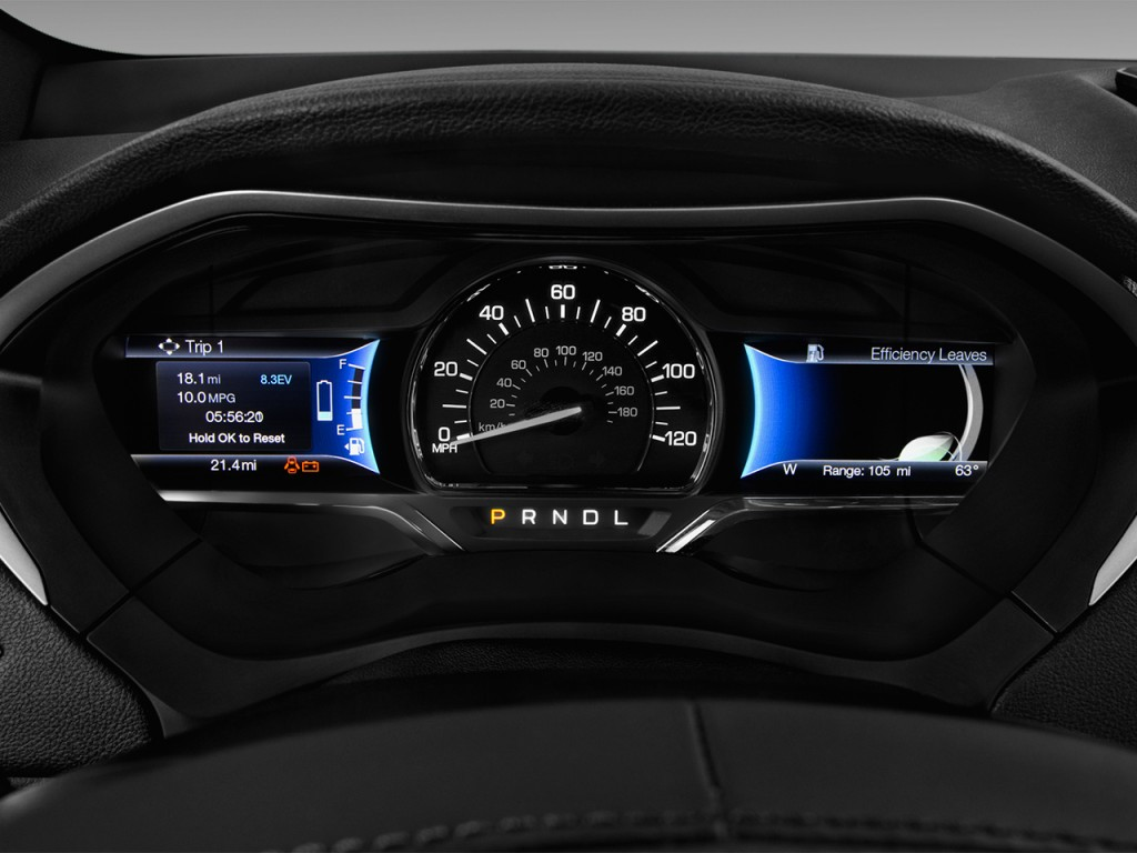 Image: 2017 Lincoln MKZ Hybrid Select FWD Instrument ...