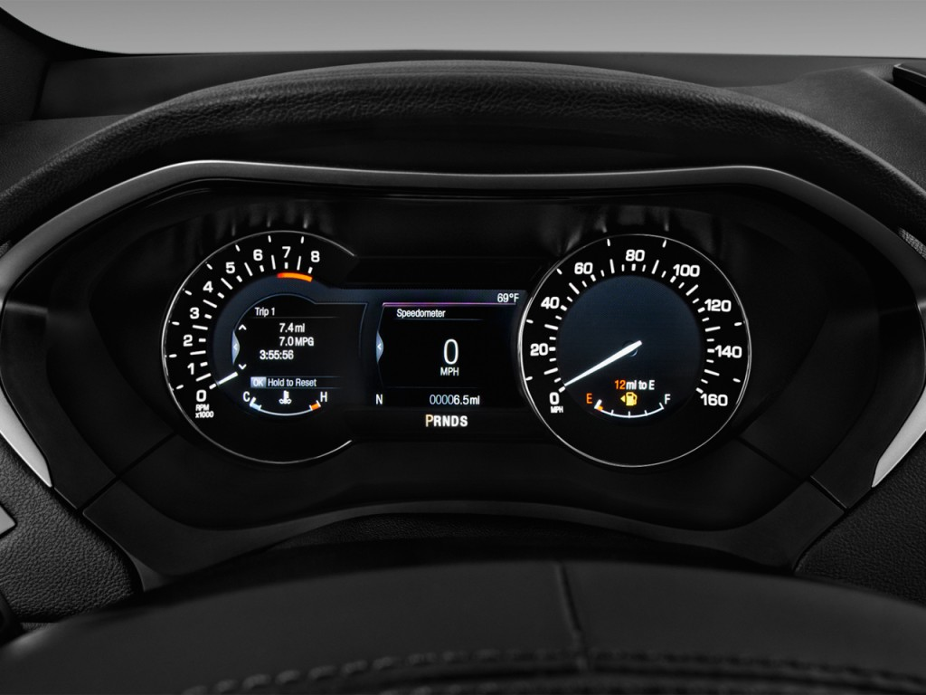 Image: 2017 Lincoln MKZ Reserve FWD Instrument Cluster ...