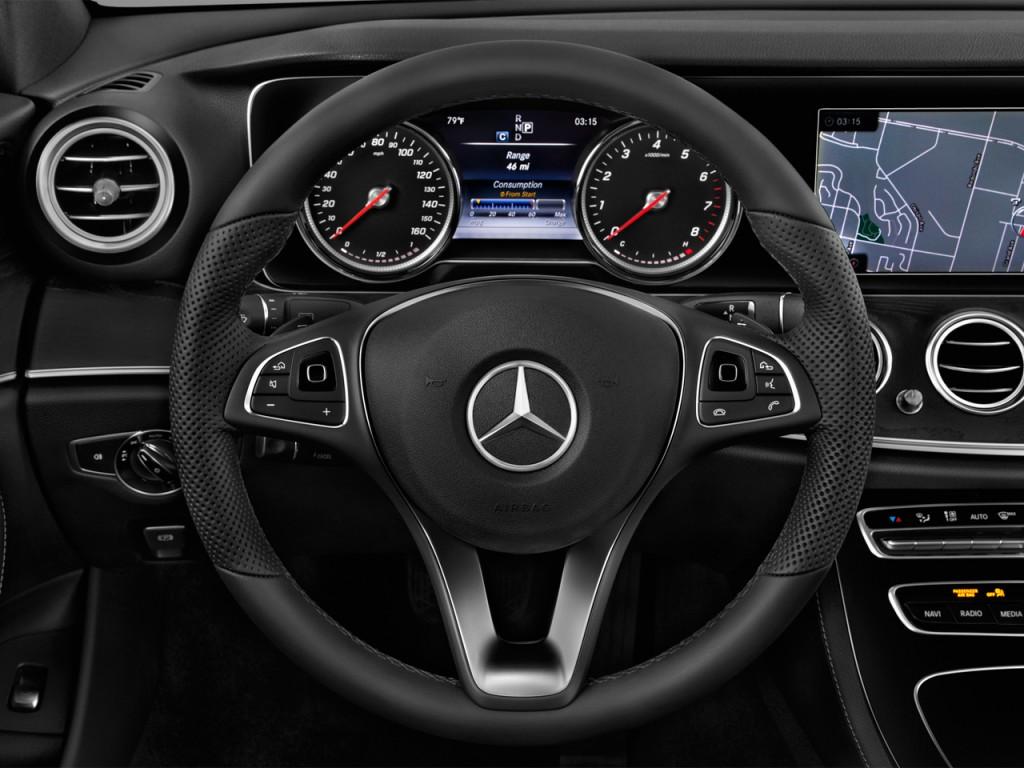 Image 2017 Mercedes Benz E Class E300 Sport Rwd Sedan Steering Wheel Size 1024 X 768 Type