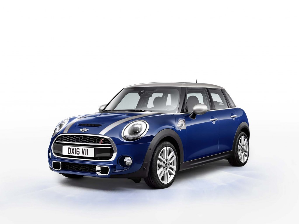 V Mini Cooper S Blue Car