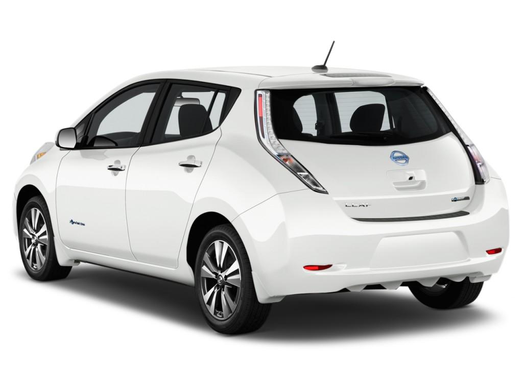 2017 Nissan Leaf Sl Hatchback Angular Rear Exterior View