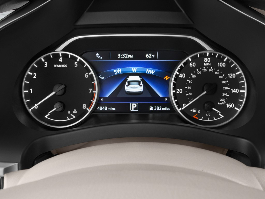 Image 2017 Nissan Murano Fwd Platinum Instrument Cluster