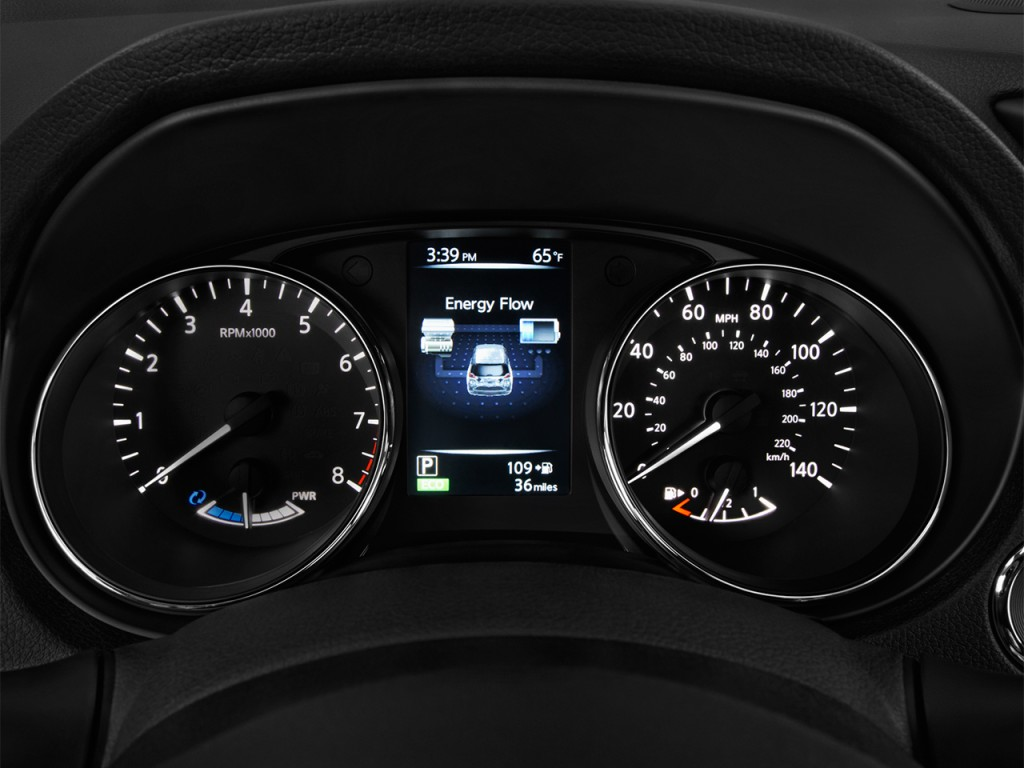 Cadillac Car Shows >> Image: 2017 Nissan Rogue FWD SL Hybrid Instrument Cluster ...