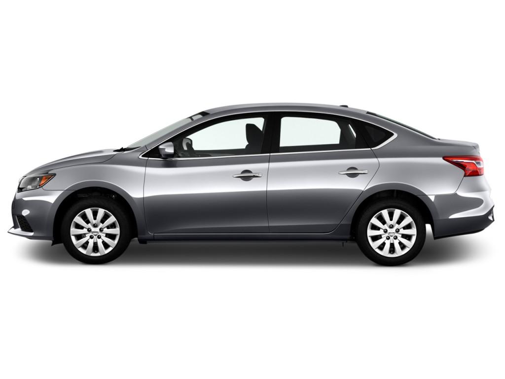 Image 2017 Nissan Sentra Sv Cvt Side Exterior View Size