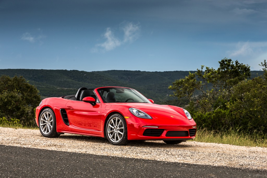 Image: 2017 Porsche 718 Boxster, Guards red, size: 1024 x ...