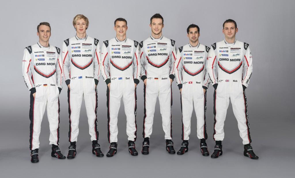 Porsche's 2017 World Endurance Championship driver lineup