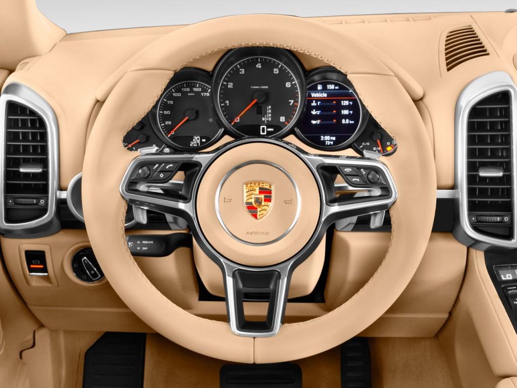 Image: 2017 Porsche Cayenne AWD Steering Wheel, size: 1024 ...