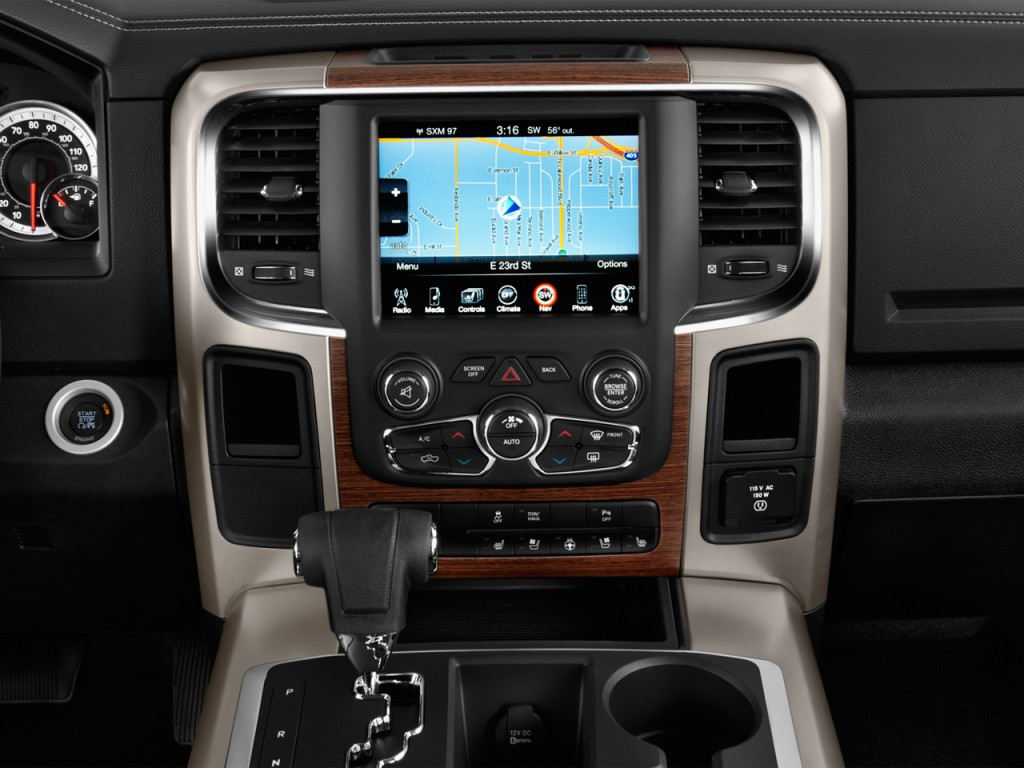 "Dodge Dakota 2017 >> Image: 2017 Ram 1500 Laramie 4x2 Quad Cab 6'4"" Box Instrument Panel, size: 1024 x 768, type: gif ..."