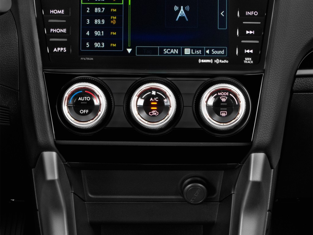 Image: 2017 Subaru Forester 2.5i Limited CVT Temperature Controls, size: 1024 x 768, type: gif