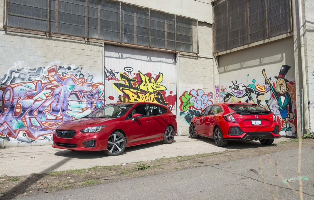 2017 Subaru Impreza vs. 2017 Honda Civic