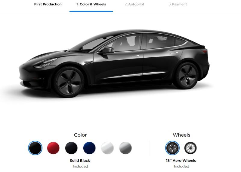 Configuring a Tesla Model 3: buyer walks through the ...