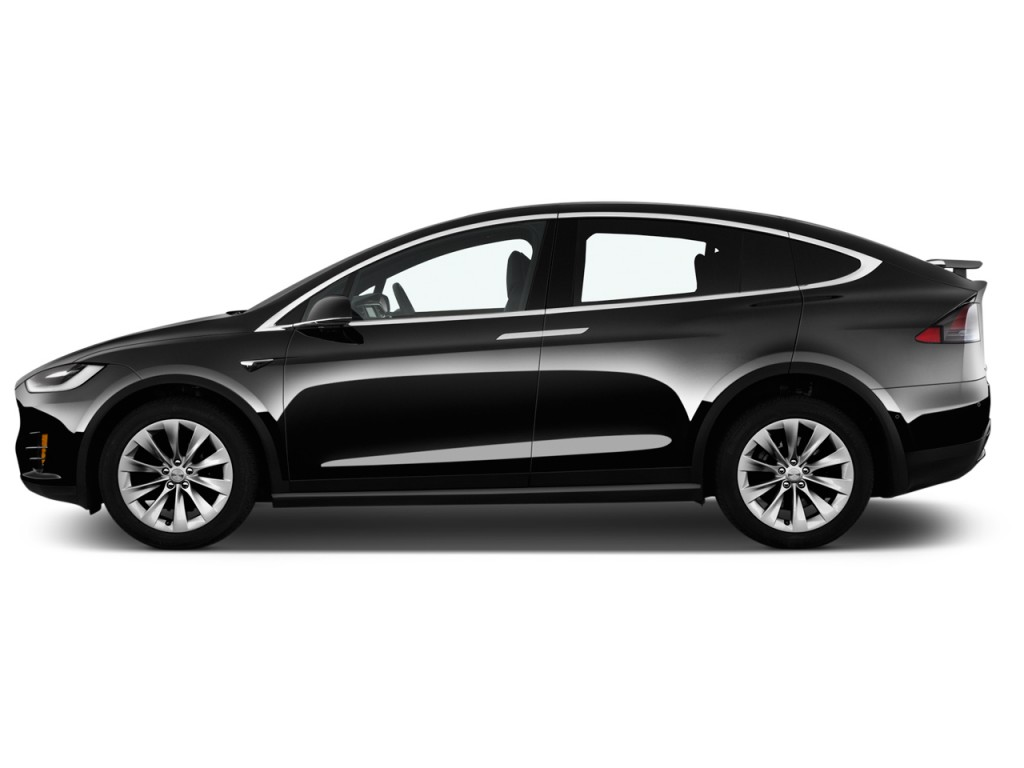 Image: 2017 Tesla Model X 75D AWD Side Exterior View, size ...