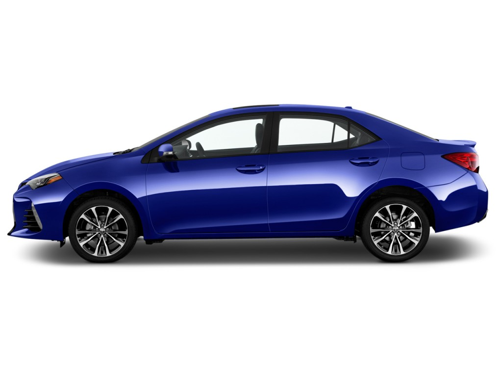 Image: 2017 Toyota Corolla XSE CVT Automatic (Natl) Side Exterior View, size: 1024 x 768, type ...