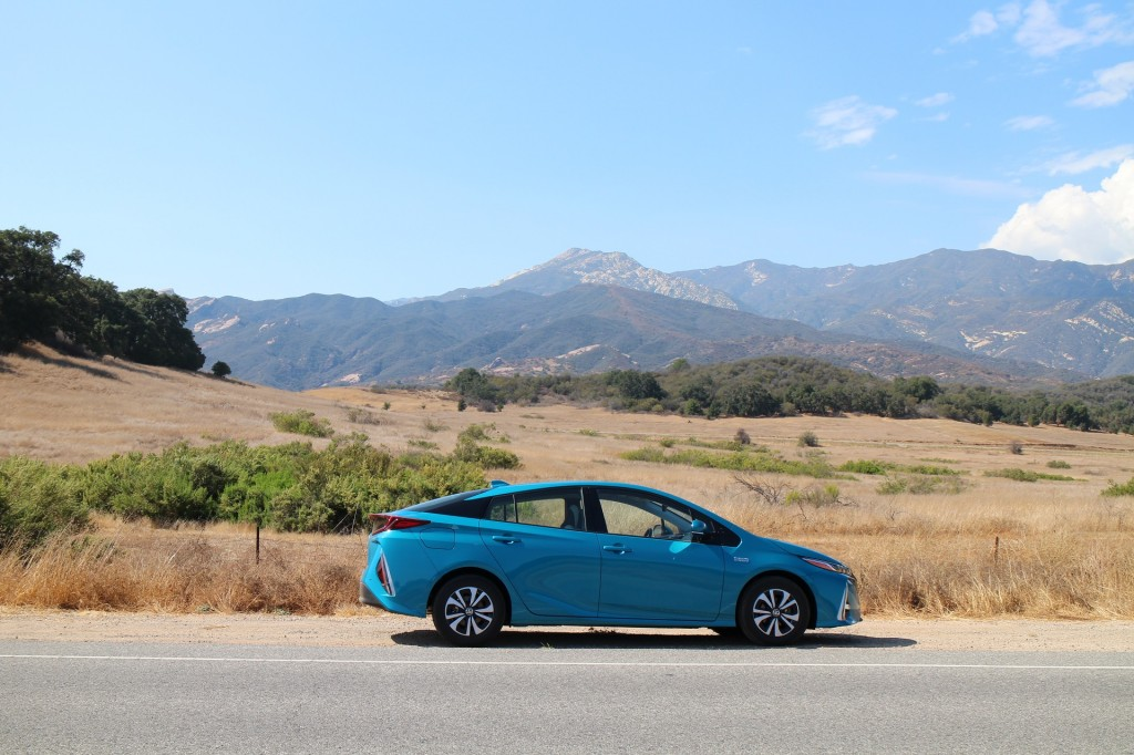 2017 Toyota Prius Prime test drive, Ojai, California, Sep 2016