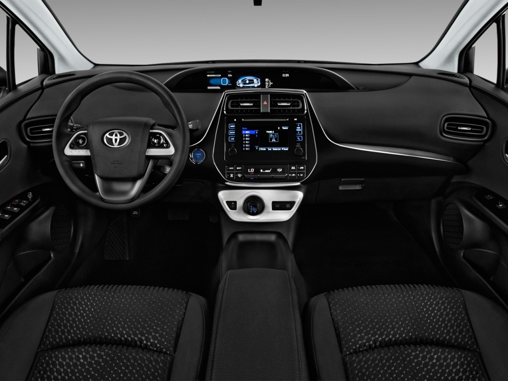 Hyundai Accent Gas Mileage >> Image: 2017 Toyota Prius Two (Natl) Dashboard, size: 1024