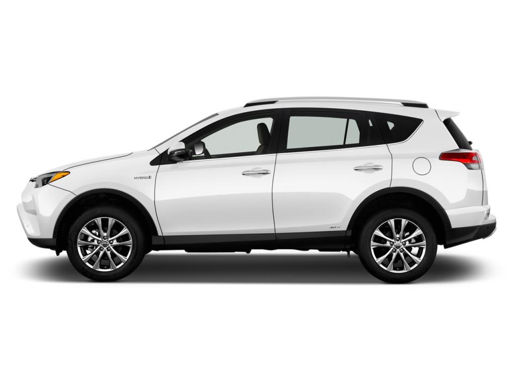 2017 Toyota Rav4 Hybrid Limited Awd Natl Side Exterior View