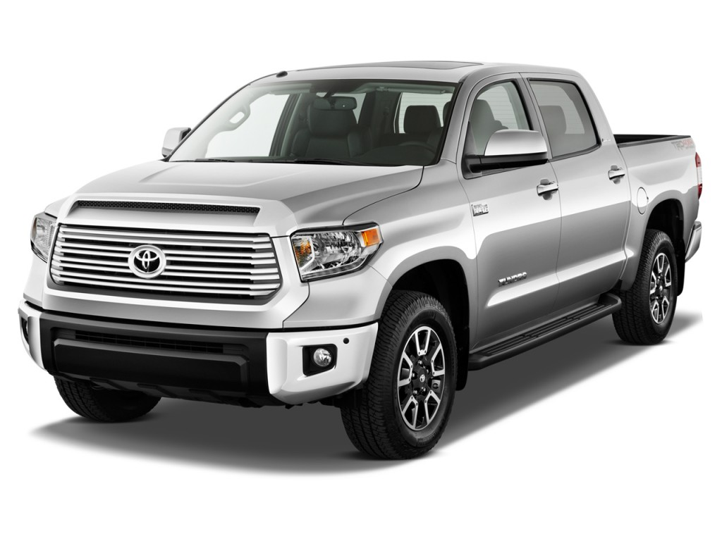 image 2017 toyota tundra 2wd limited crewmax 5 5 39 bed 5 7l natl angular front exterior view. Black Bedroom Furniture Sets. Home Design Ideas