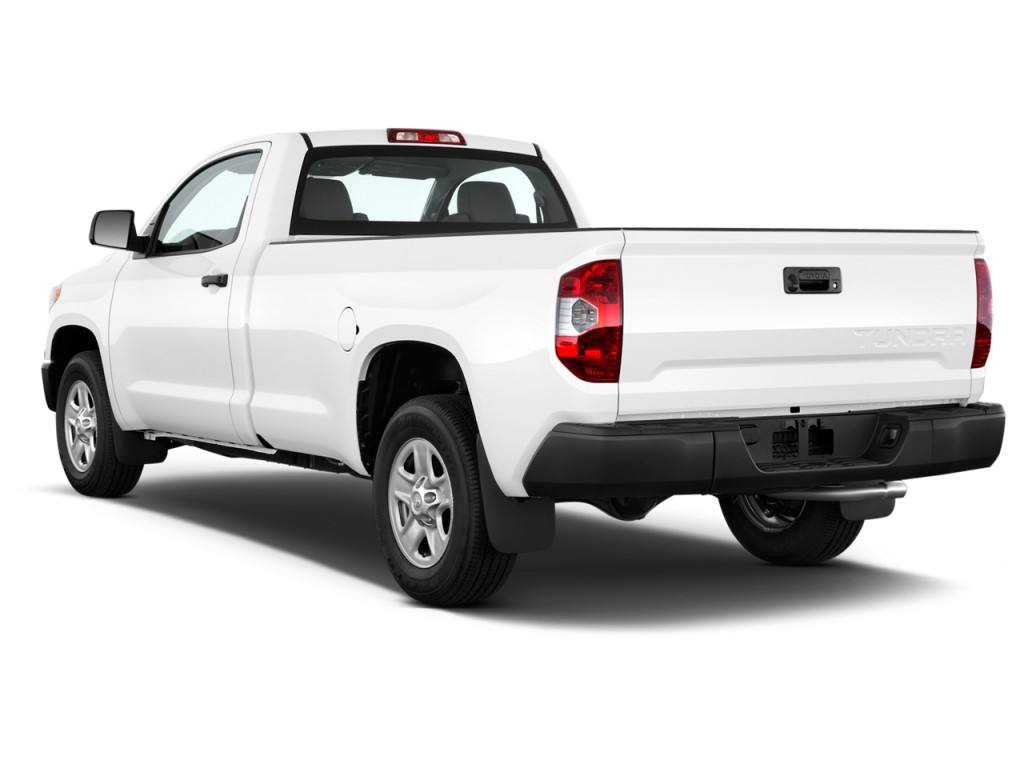tundra toyota regular sr bed cab angular exterior rear natl 7l 2wd