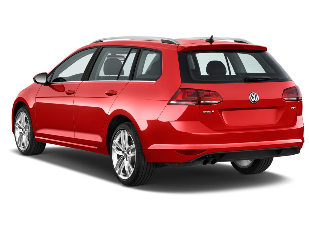 Image 2017 Volkswagen Golf Sportwagen 1 8t Sel Auto Angular Rear Exterior View Size 1024 X