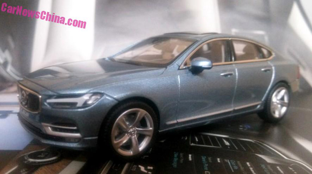 2017 Volvo S90 scale model - Image via Car News China