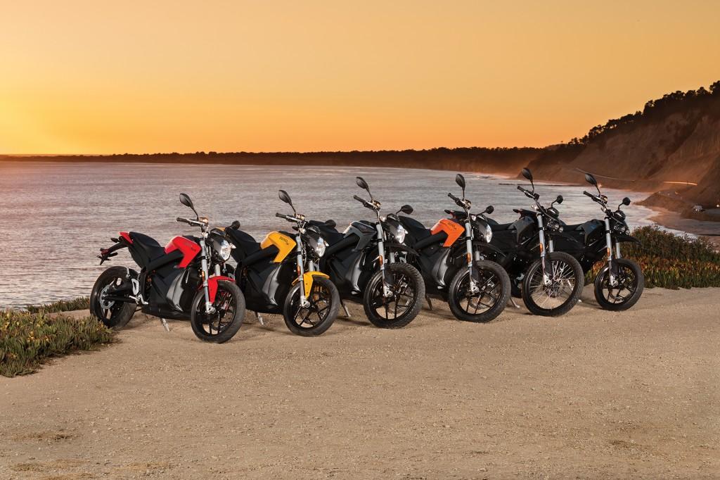 2017 Zero electric motorcycle lineup