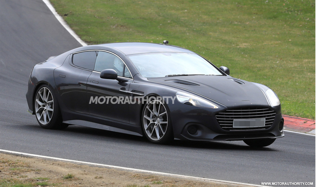 2018 Aston Martin Rapide AMR spy shots and video
