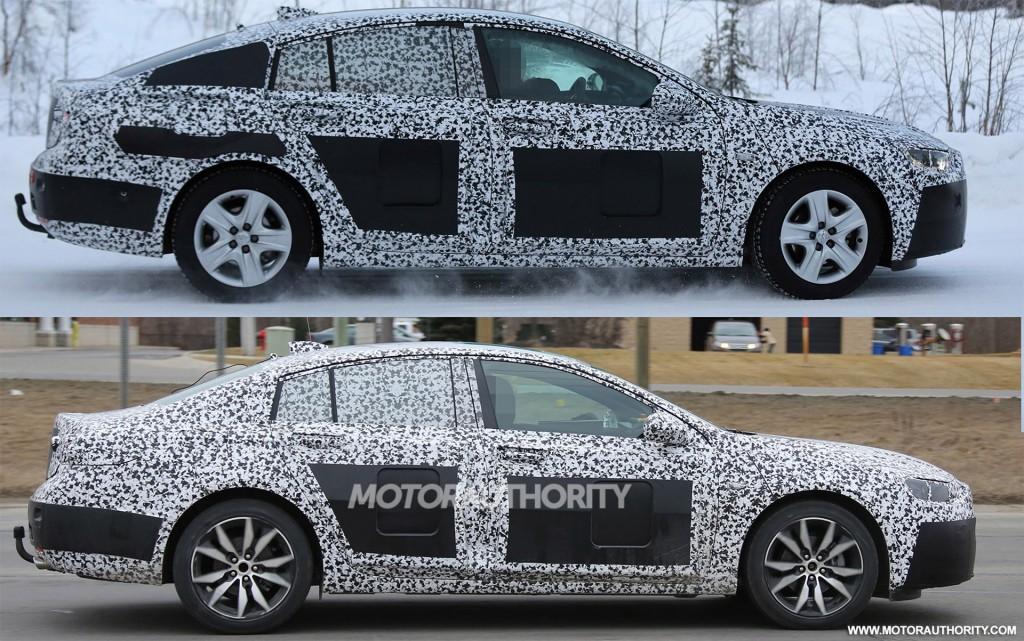 2017 Opel Insignia (top) and 2018 Buick Regal spy shots - Image via S. Baldauf/SB-Medien