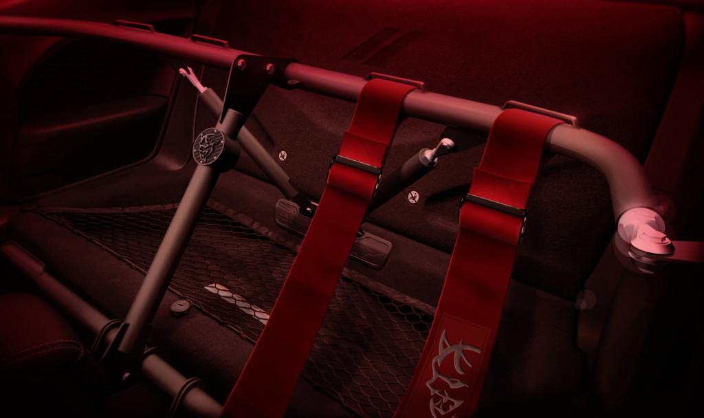 2018 Dodge Challenger SRT Demon Speedlogix four-point harness bar