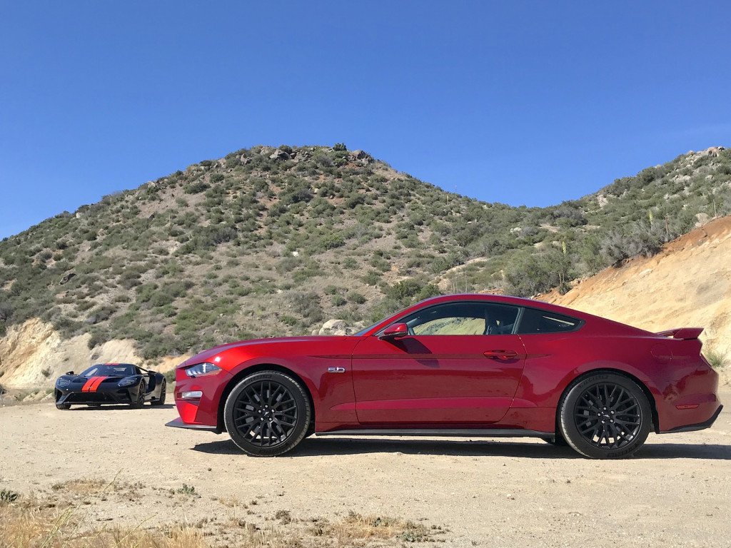 2018 Ford Mustang GT and 2018 Ford GT