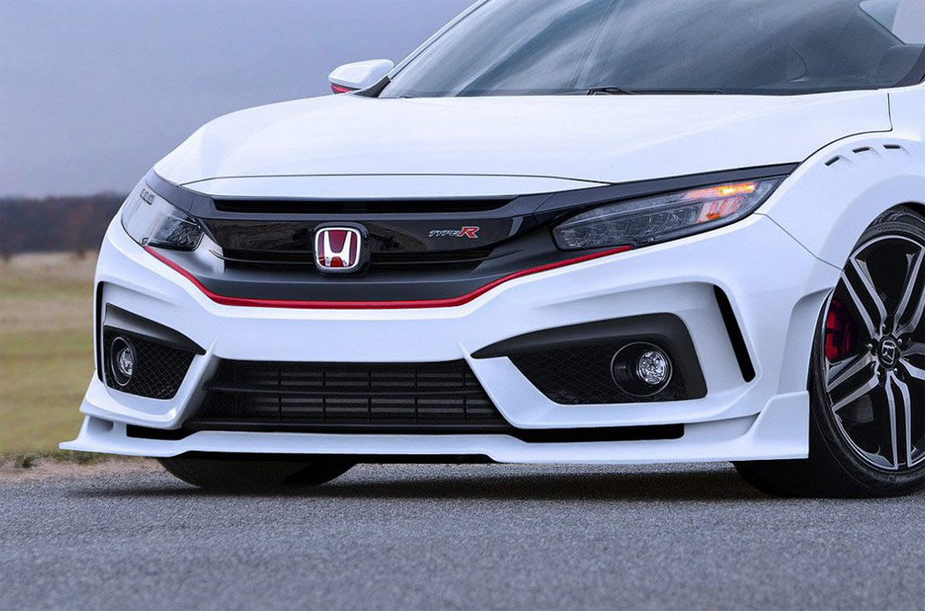 2018 honda civic type r rendered. Black Bedroom Furniture Sets. Home Design Ideas