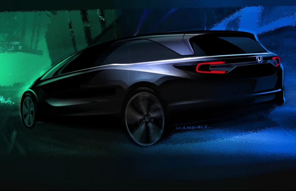 Teaser for 2018 Honda Odyssey debuting at 2017 Detroit auto show