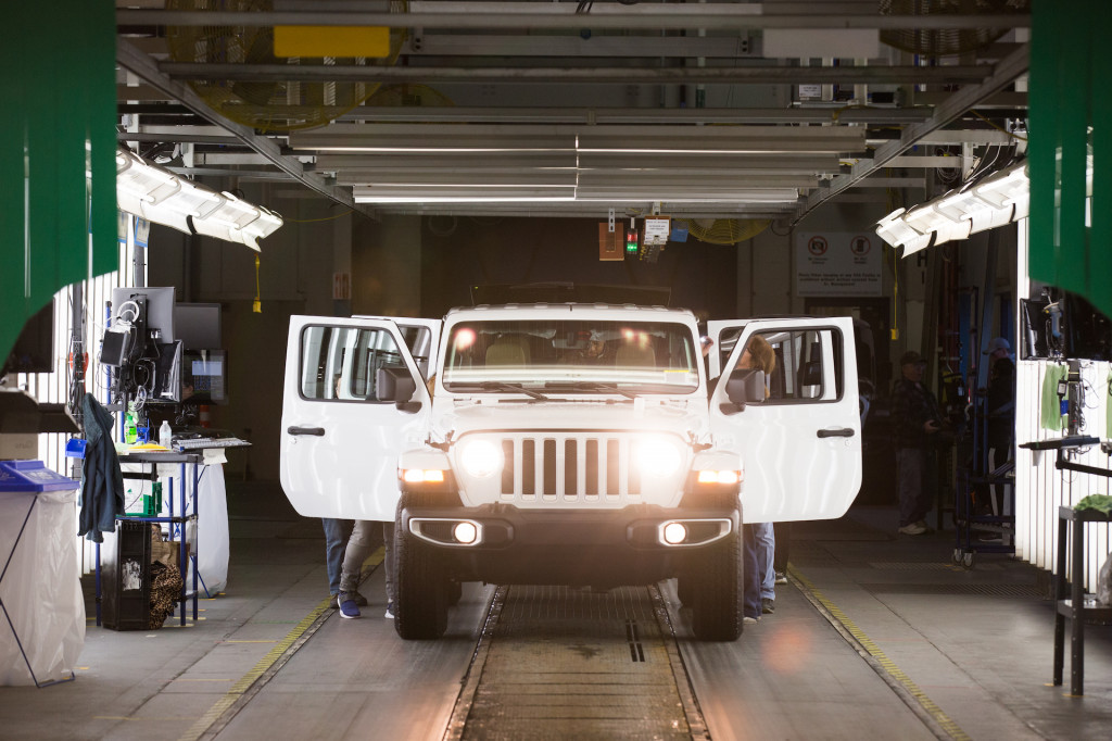 2018 Jeep Wrangler on assembly line