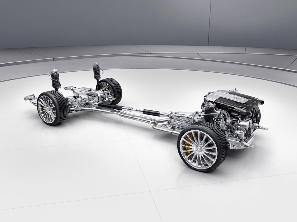Image: 2018 Mercedes-AMG S63 4Matic+ powertrain and suspension, size ...