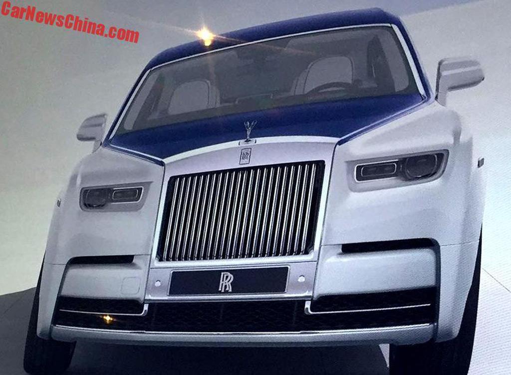 2018 Rolls-Royce Phantom leaked - Image via CarNewsChina