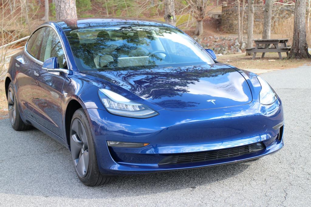Image: 2018 Tesla Model 3 Long Range electric car, road ...