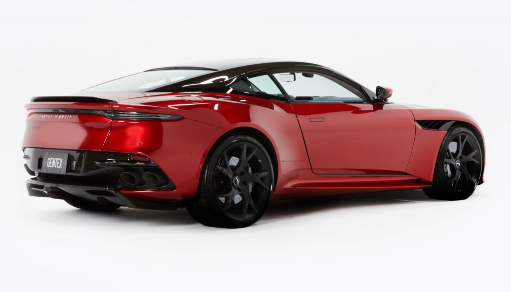 2019 Aston Martin DBS Superleggera fitted with Gentex blind spot camera system