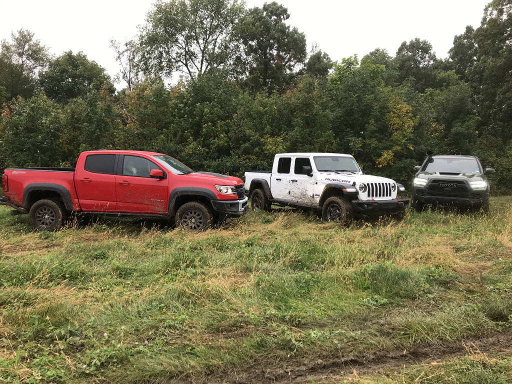 Mucking it up with the Jeep Gladiator, Toyota Tacoma TRD Pro, and Chevy Colorado ZR2 Bison