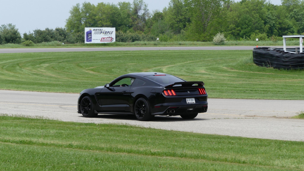 2019 Ford Mustang Shelby GT350 Gingerman Raceway track day, photo courtesy of James Fontaine