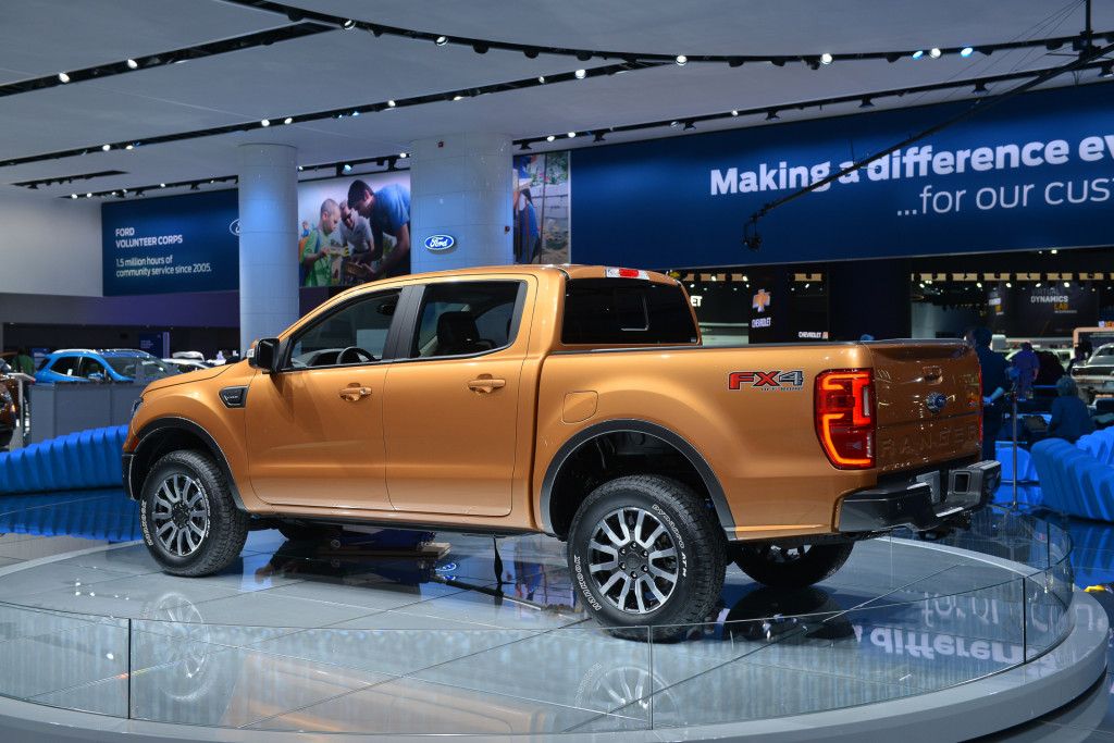 Honda Accord Vs Ford Fusion >> Image: 2019 Ford Ranger, 2018 Detroit auto show, size: 1024 x 683, type: gif, posted on: January ...