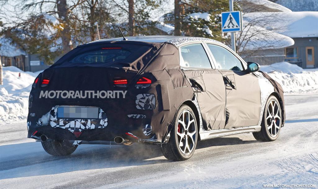 2019 Hyundai i30 Fastback N spy shots and video