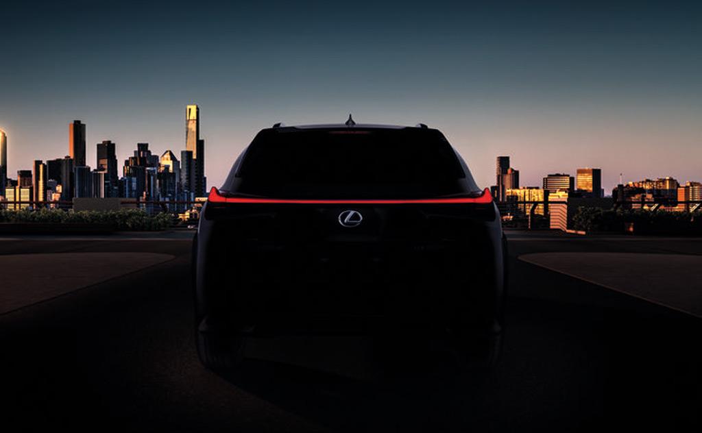 Teaser for 2019 Lexus UX debuting at 2018 Geneva auto show