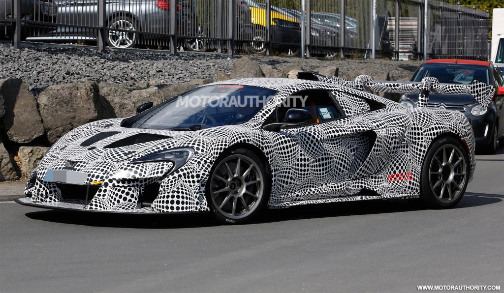 2019 McLaren P15 test mule spy shots - Image via S. Baldauf/SB-Medien