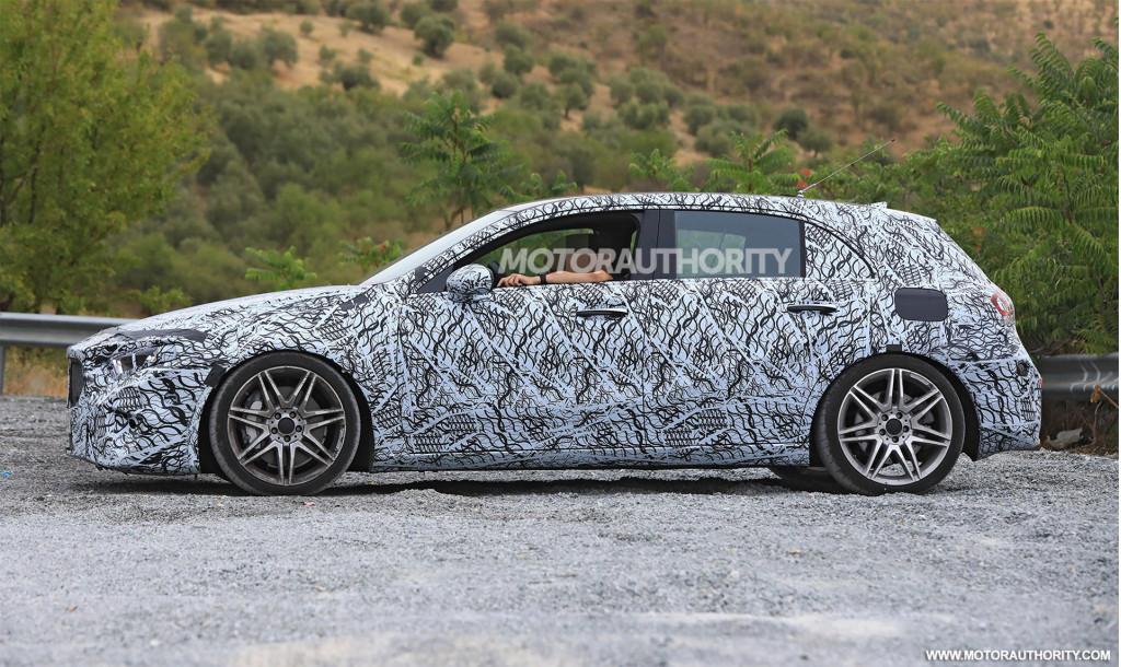 2019 Mercedes-AMG A35 hatchback spy shots