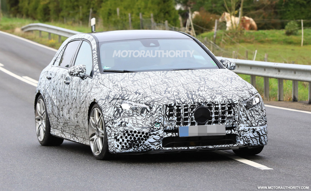 2019 Mercedes-AMG A35 hatchback spy shots