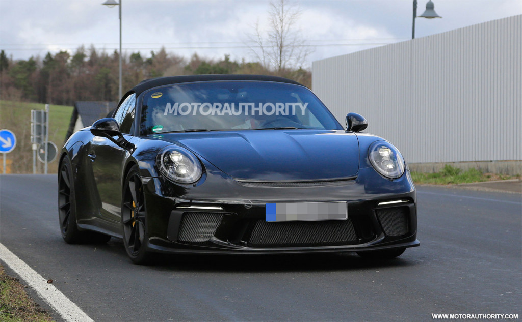 2019 Porsche 911 Speedster spy shots