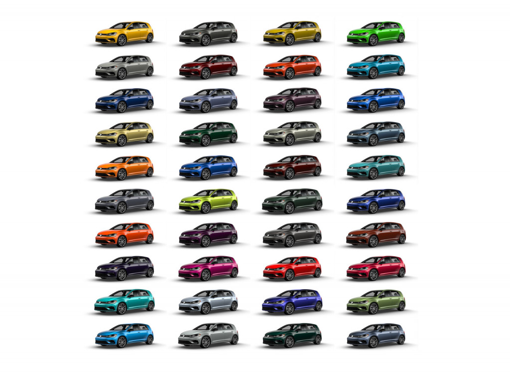 Order the 2019 VW Golf R in 1 of 40 custom colors