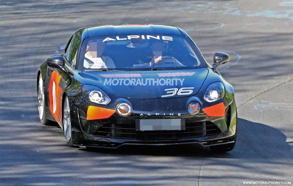 2020 Alpine A110 Sport spy shots