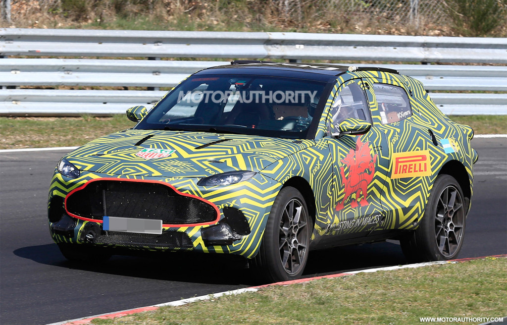 2020 Aston Martin DBX spy shots