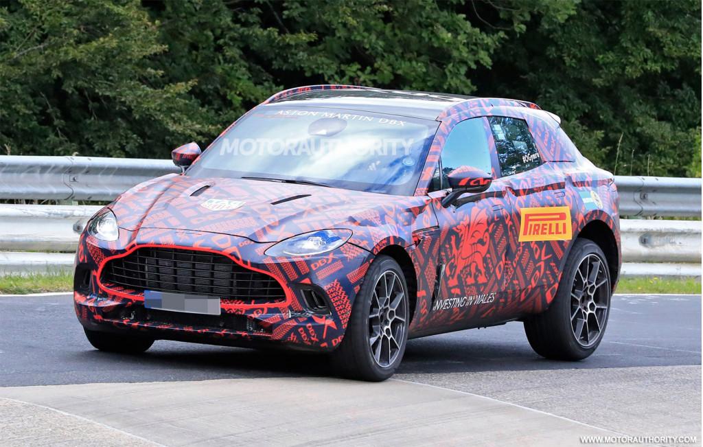 2020 Aston Martin DBX spy shots and video