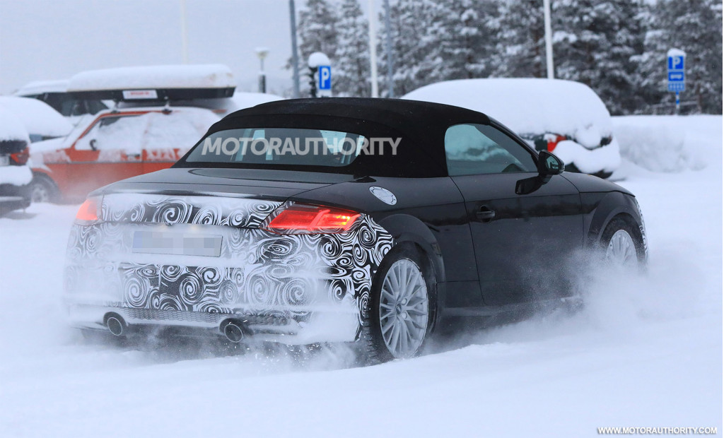 2020 Audi TT Roadster spy shots